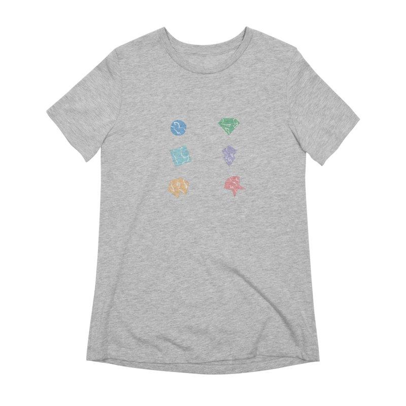 Broken Shapes Women's Extra Soft T-Shirt by Svaeth's Artist Shop