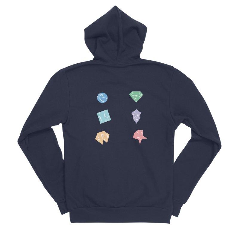 Broken Shapes Men's Sponge Fleece Zip-Up Hoody by Svaeth's Artist Shop