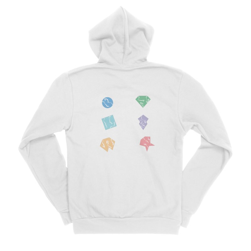 Broken Shapes Women's Sponge Fleece Zip-Up Hoody by Svaeth's Artist Shop