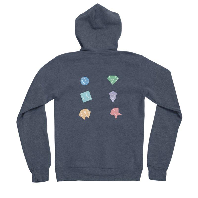 Broken Shapes Women's Sponge Fleece Zip-Up Hoody by Svaeth's Artist Shop