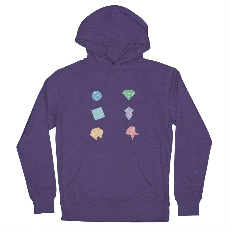 Broken Shapes Women's French Terry Pullover Hoody by Svaeth's Artist Shop
