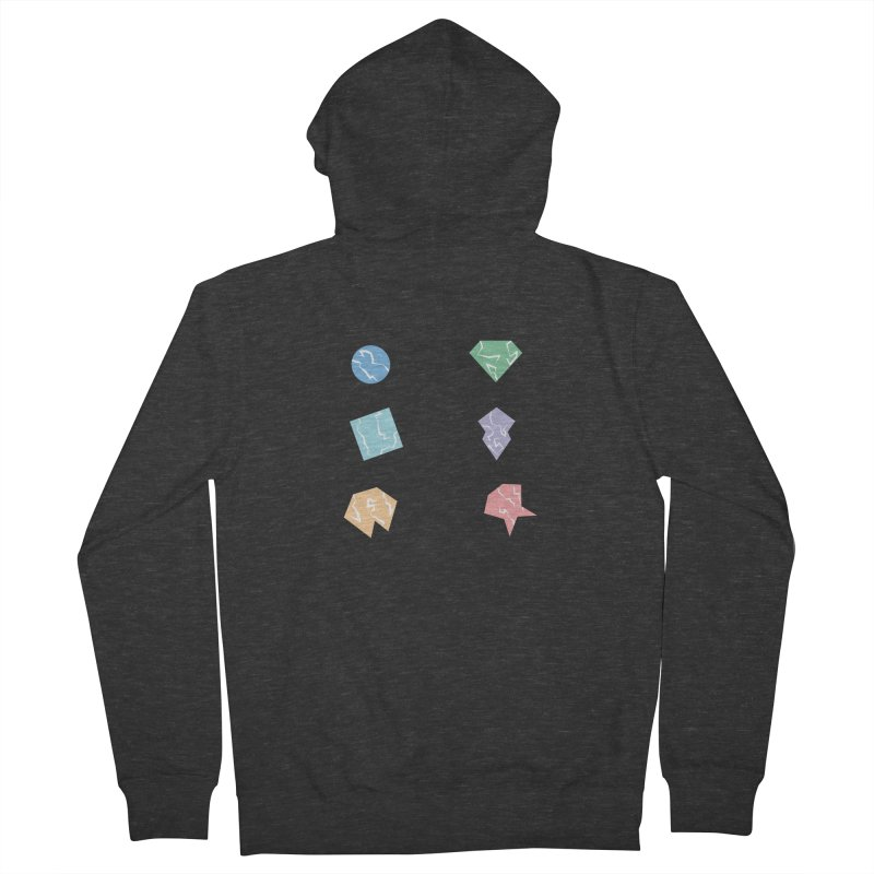 Broken Shapes Women's French Terry Zip-Up Hoody by Svaeth's Artist Shop