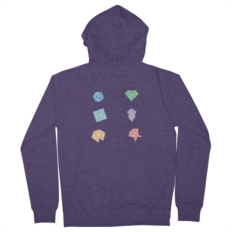 Broken Shapes Men's French Terry Zip-Up Hoody by Svaeth's Artist Shop