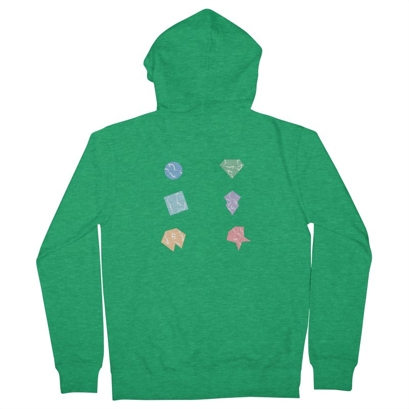 Broken Shapes Men's Zip-Up Hoody by Svaeth's Artist Shop