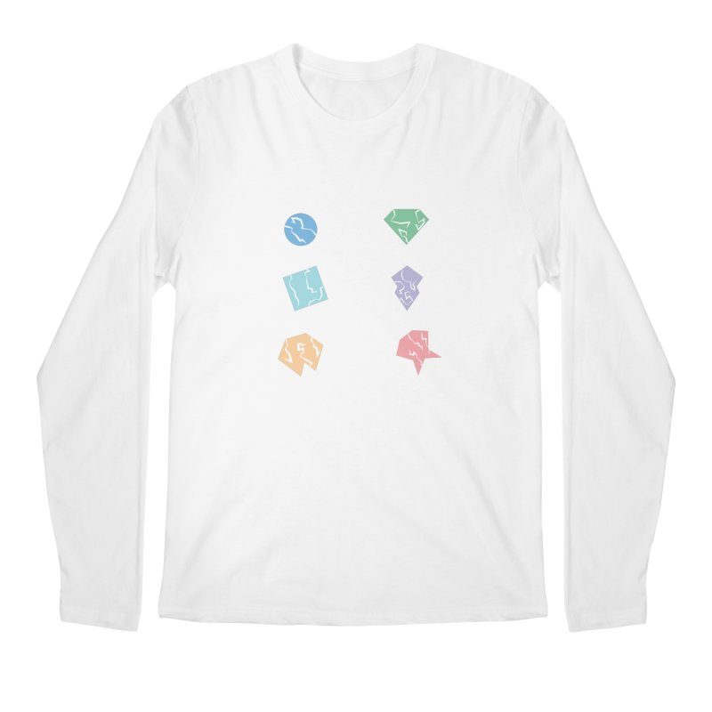 Broken Shapes Men's Regular Longsleeve T-Shirt by Svaeth's Artist Shop
