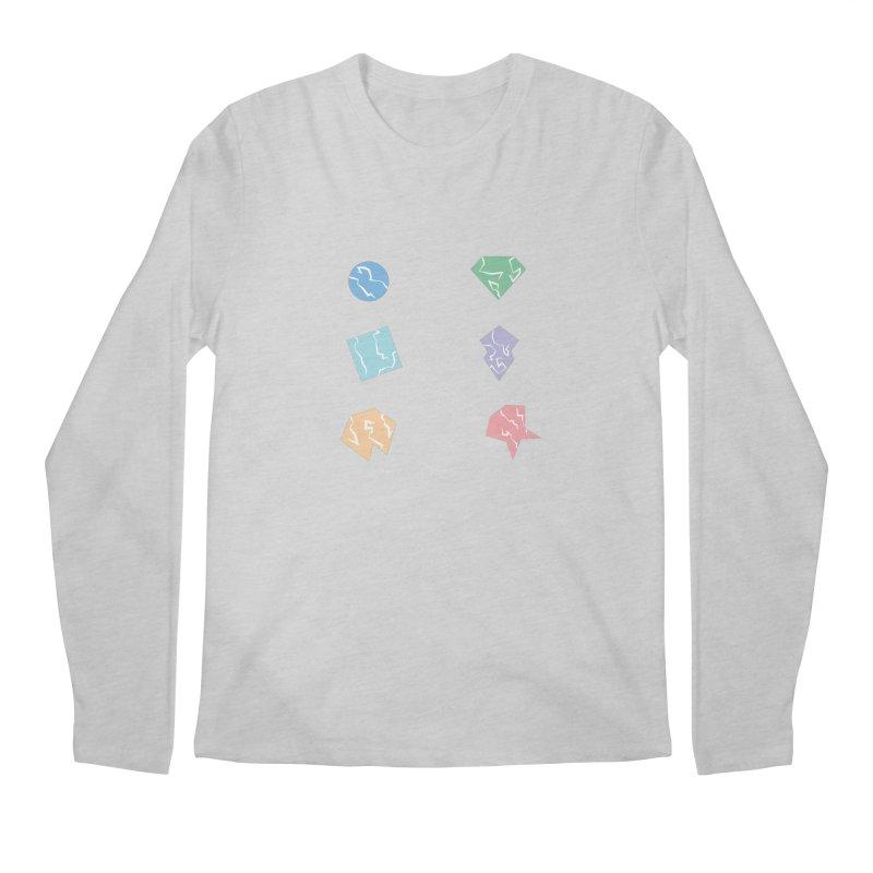 Broken Shapes Men's Regular Longsleeve T-Shirt by Svaeth's Artist Shop
