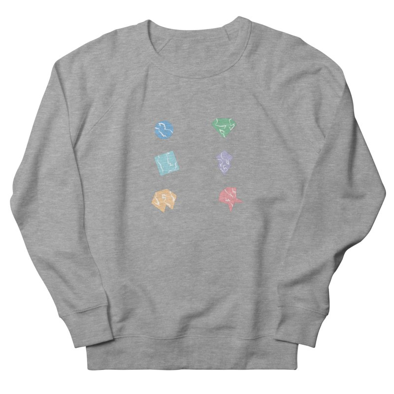 Broken Shapes Women's French Terry Sweatshirt by Svaeth's Artist Shop