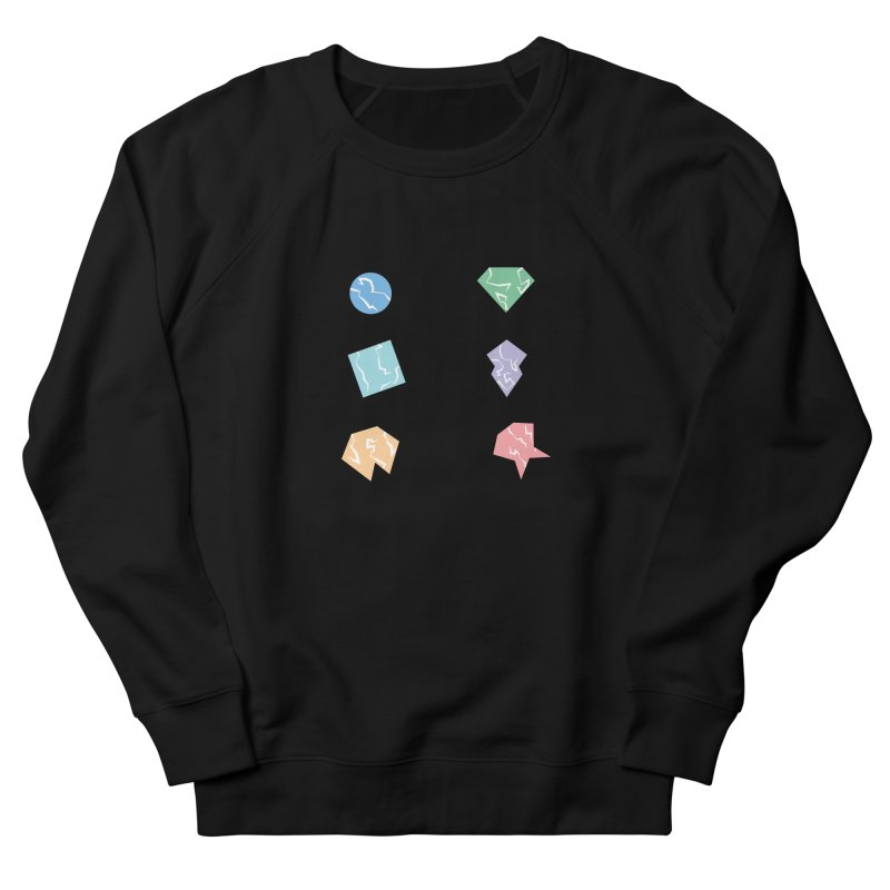 Broken Shapes Women's French Terry Sweatshirt by Svaeth's Artist Shop