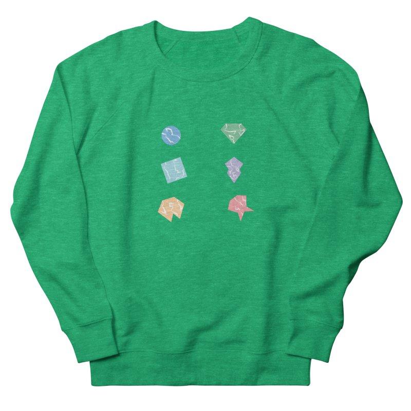 Broken Shapes Men's French Terry Sweatshirt by Svaeth's Artist Shop