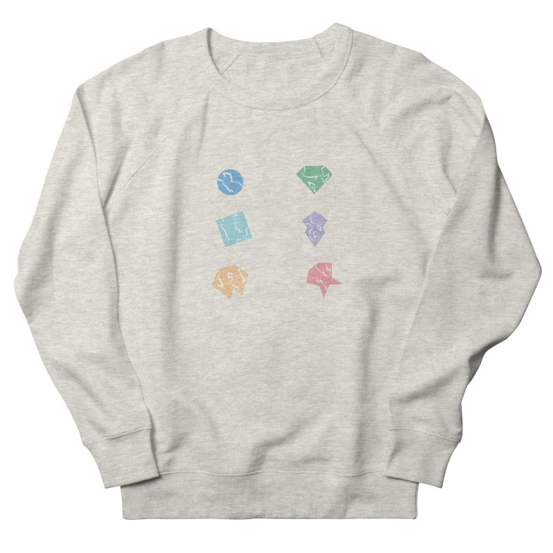 Broken Shapes Men's French Terry Sweatshirt by Svaeth's Artist Shop