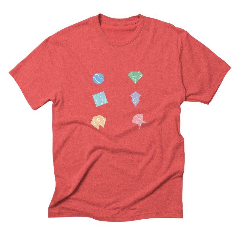 Broken Shapes Men's Triblend T-Shirt by Svaeth's Artist Shop