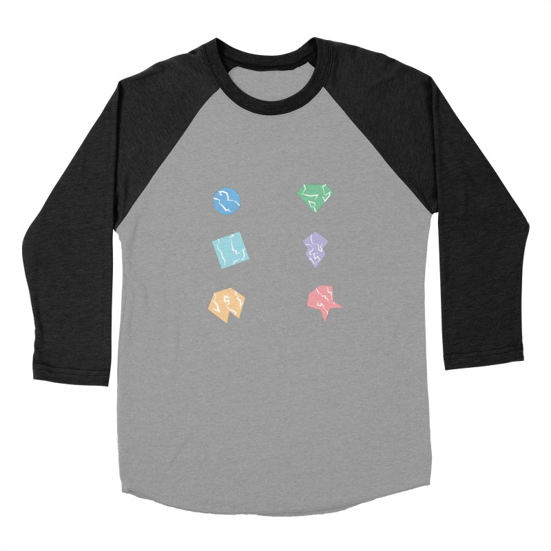 Broken Shapes Women's Baseball Triblend Longsleeve T-Shirt by Svaeth's Artist Shop