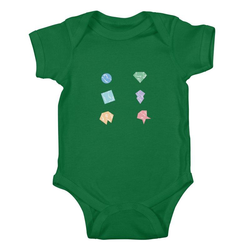 Broken Shapes Kids Baby Bodysuit by Svaeth's Artist Shop