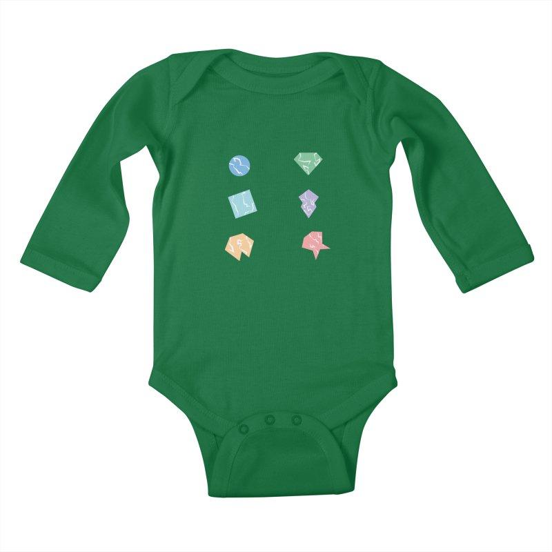 Broken Shapes Kids Baby Longsleeve Bodysuit by Svaeth's Artist Shop