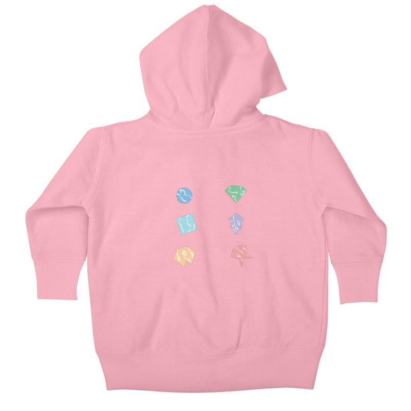 Broken Shapes Kids Baby Zip-Up Hoody by Svaeth's Artist Shop