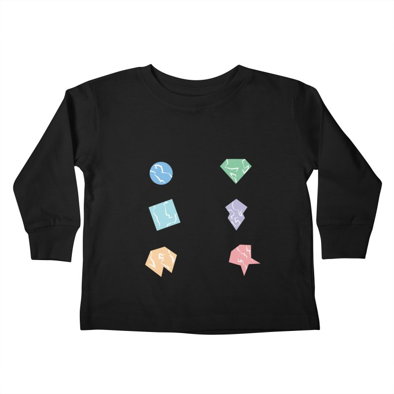 Broken Shapes Kids Toddler Longsleeve T-Shirt by Svaeth's Artist Shop