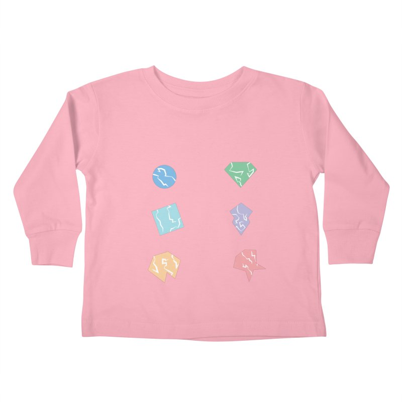 Broken Shapes Kids Toddler Longsleeve T-Shirt by Svaeth's Artist Shop