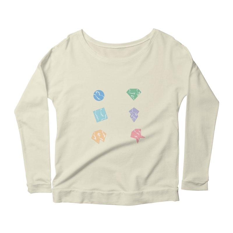 Broken Shapes Women's Scoop Neck Longsleeve T-Shirt by Svaeth's Artist Shop