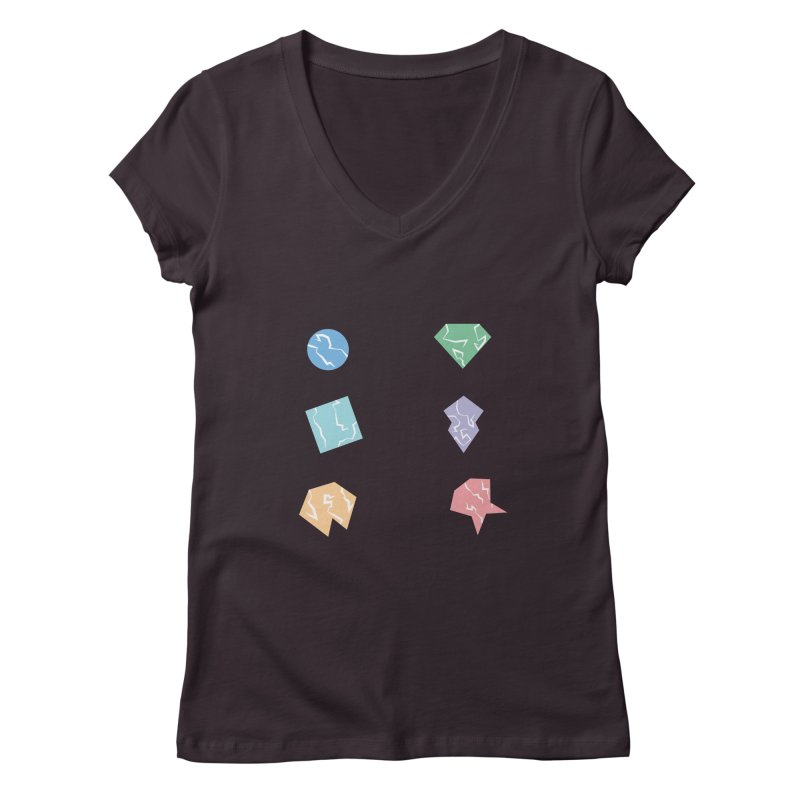 Broken Shapes Women's V-Neck by Svaeth's Artist Shop