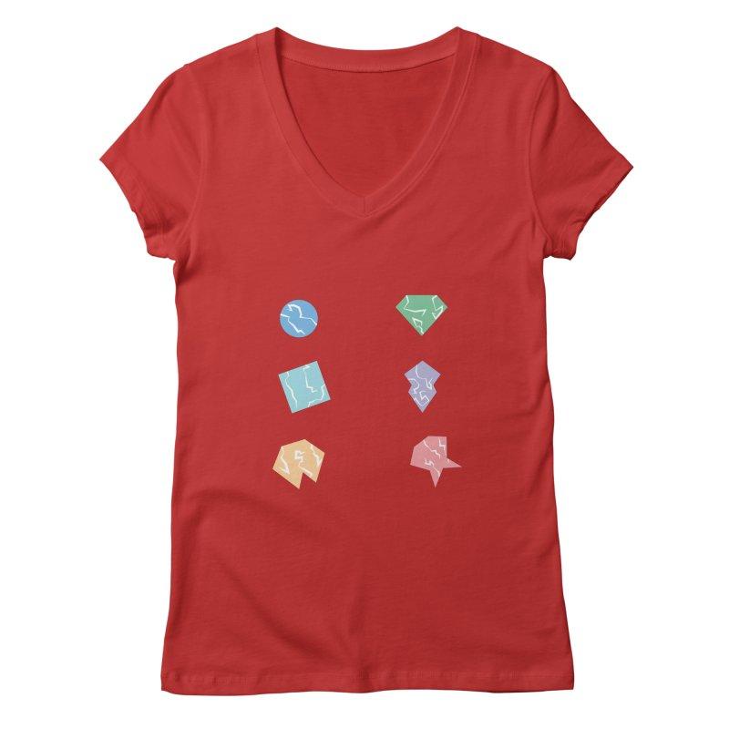 Broken Shapes Women's V-Neck by Svaeth's Artist Shop