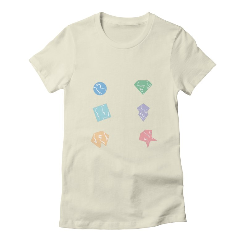 Broken Shapes Women's Fitted T-Shirt by Svaeth's Artist Shop