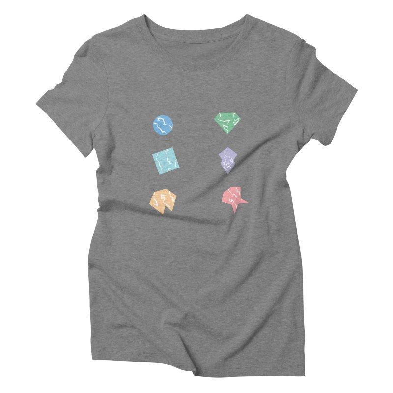 Broken Shapes Women's Triblend T-Shirt by Svaeth's Artist Shop