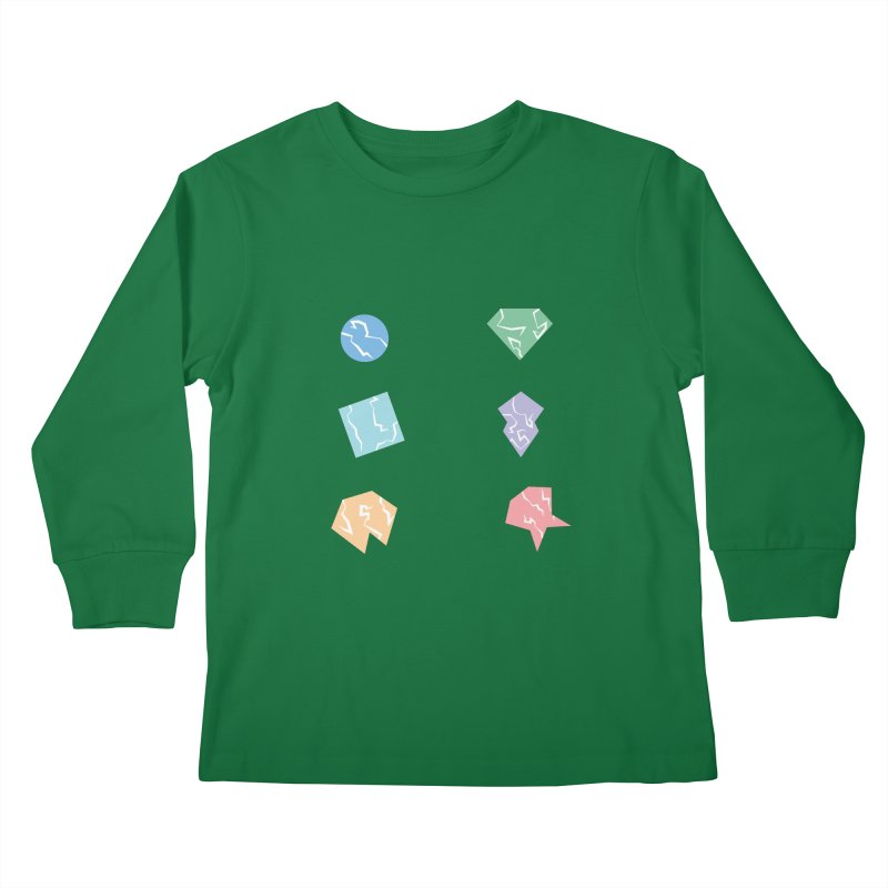 Broken Shapes Kids Longsleeve T-Shirt by Svaeth's Artist Shop