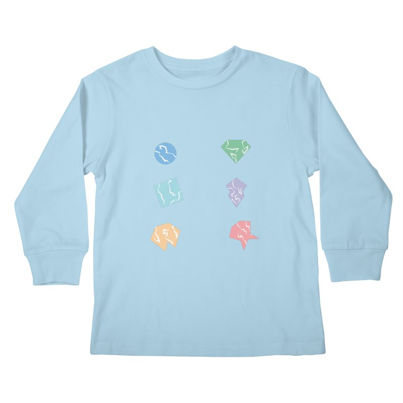 Broken Shapes Kids Longsleeve T-Shirt by Svaeth's Artist Shop