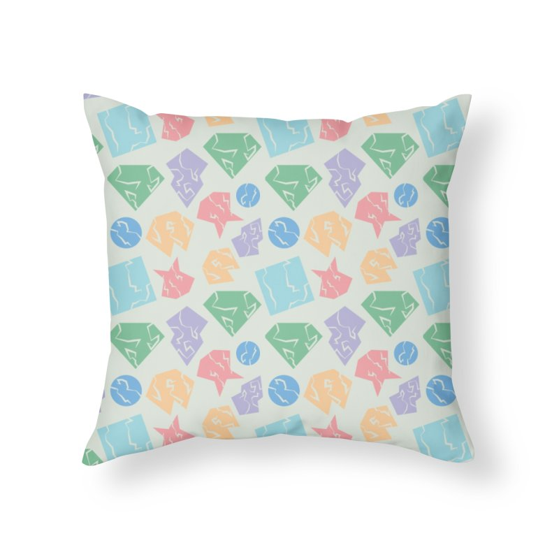 Broken Shapes Home Throw Pillow by Svaeth's Artist Shop