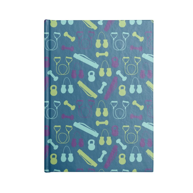 Workout Equipment Accessories Blank Journal Notebook by Svaeth's Artist Shop