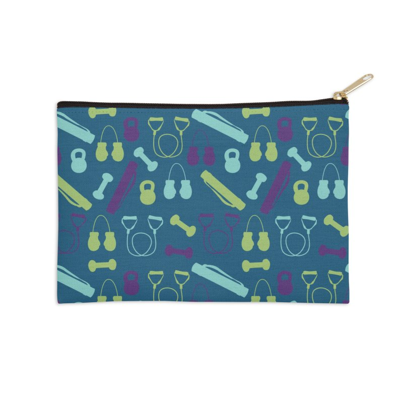 Workout Equipment Accessories Zip Pouch by Svaeth's Artist Shop