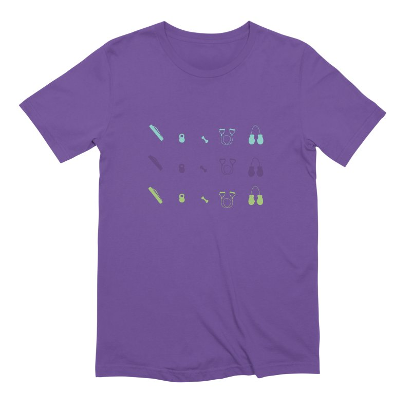 Workout Equipment Men's T-Shirt by Svaeth's Artist Shop