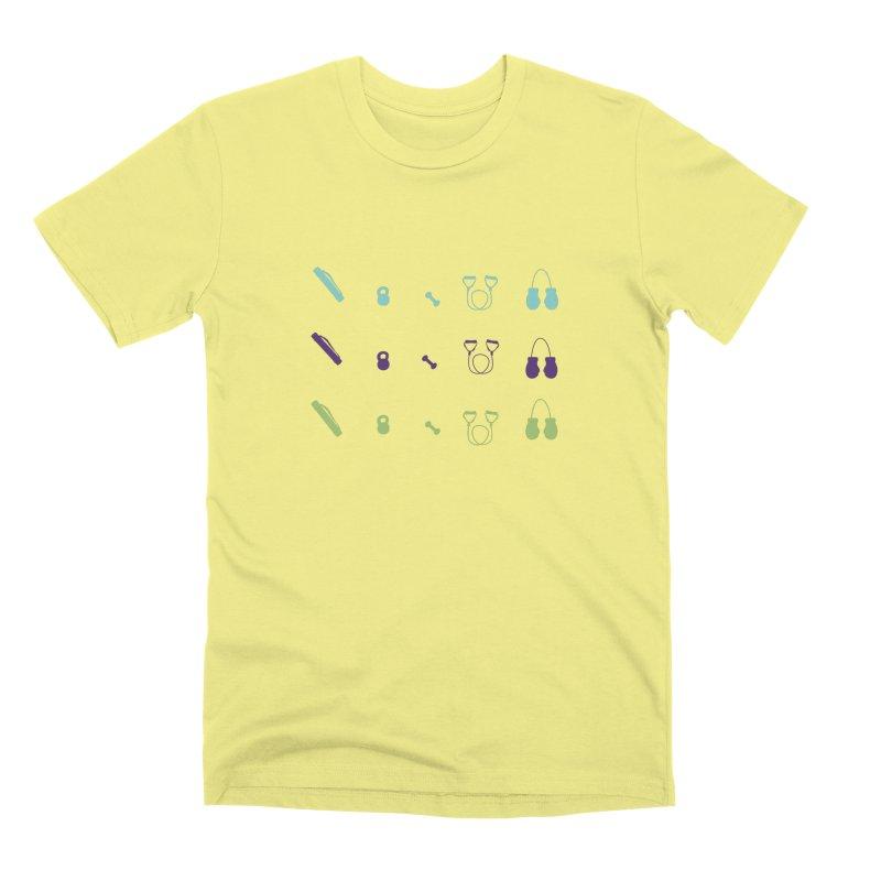 Workout Equipment Men's Premium T-Shirt by Svaeth's Artist Shop
