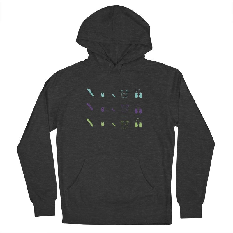 Workout Equipment Women's French Terry Pullover Hoody by Svaeth's Artist Shop