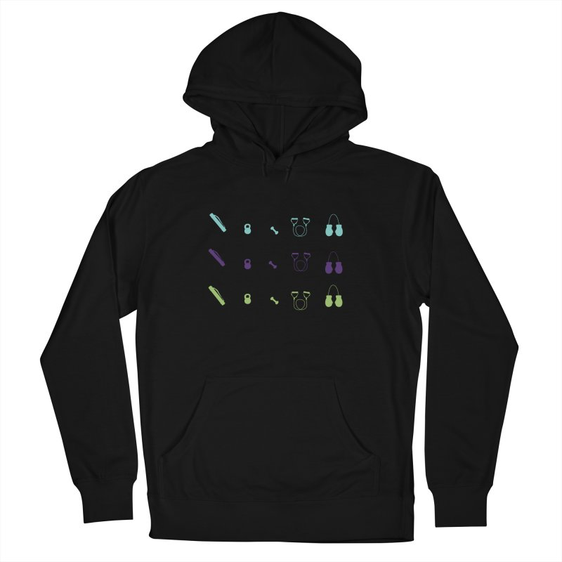Workout Equipment Men's French Terry Pullover Hoody by Svaeth's Artist Shop