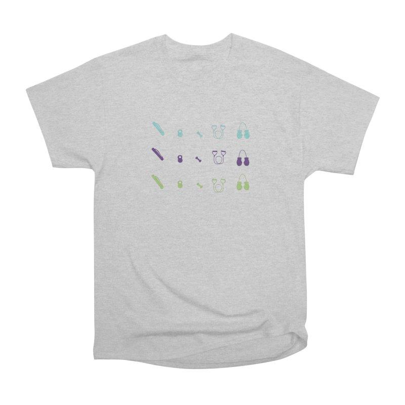 Workout Equipment Men's Heavyweight T-Shirt by Svaeth's Artist Shop