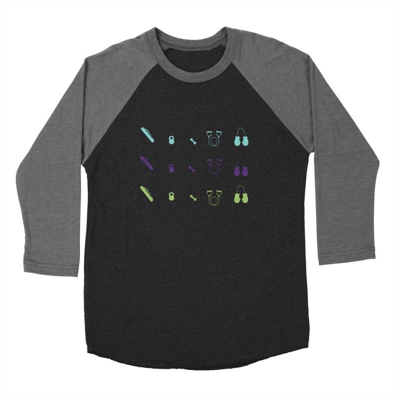 Workout Equipment Women's Baseball Triblend Longsleeve T-Shirt by Svaeth's Artist Shop