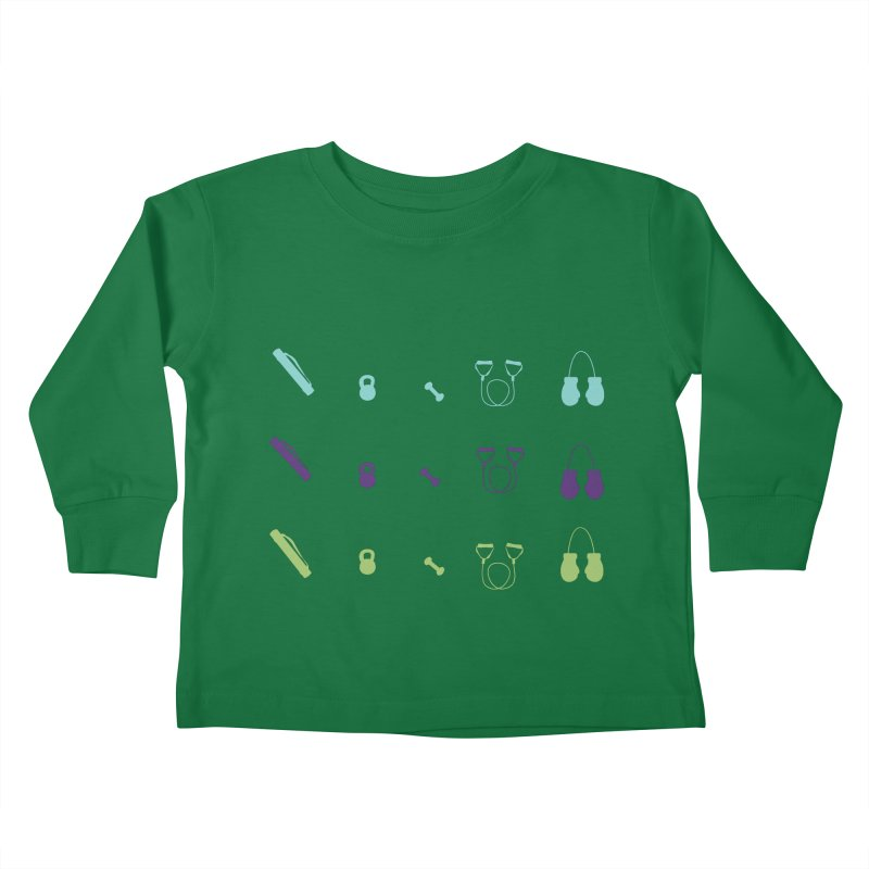Workout Equipment Kids Toddler Longsleeve T-Shirt by Svaeth's Artist Shop