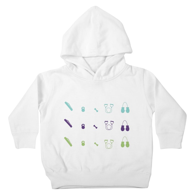 Workout Equipment Kids Toddler Pullover Hoody by Svaeth's Artist Shop