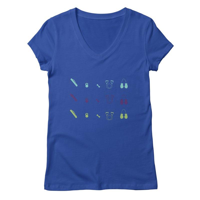 Workout Equipment Women's Regular V-Neck by Svaeth's Artist Shop