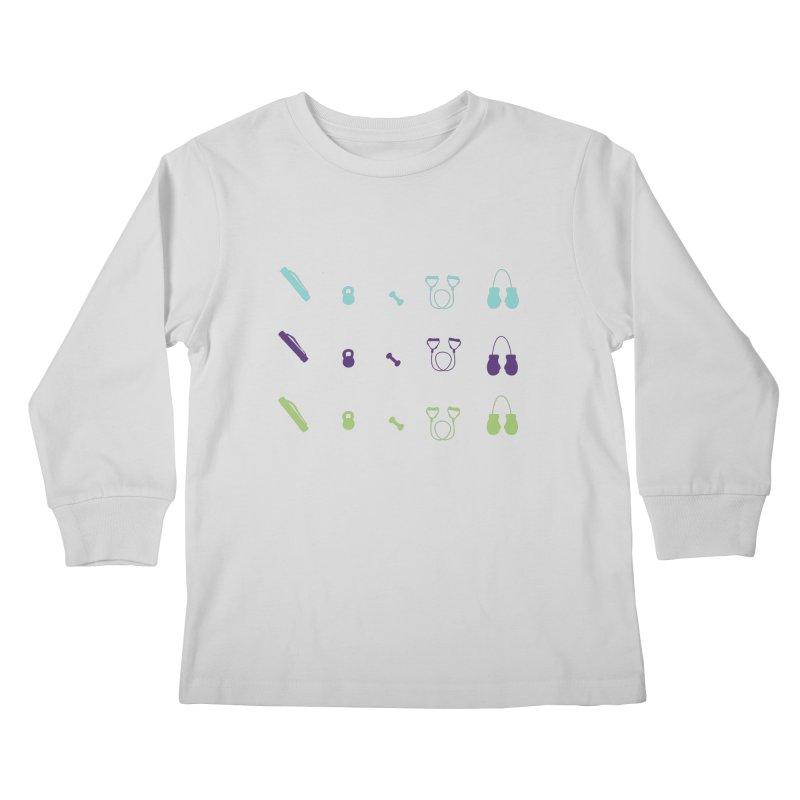 Workout Equipment Kids Longsleeve T-Shirt by Svaeth's Artist Shop