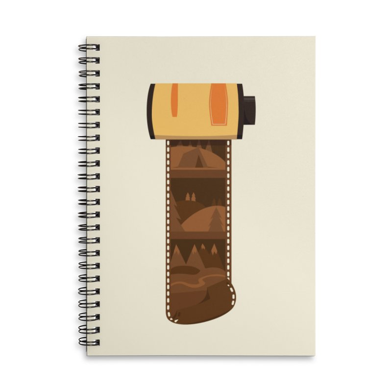 Film Roll Accessories Lined Spiral Notebook by Svaeth's Artist Shop