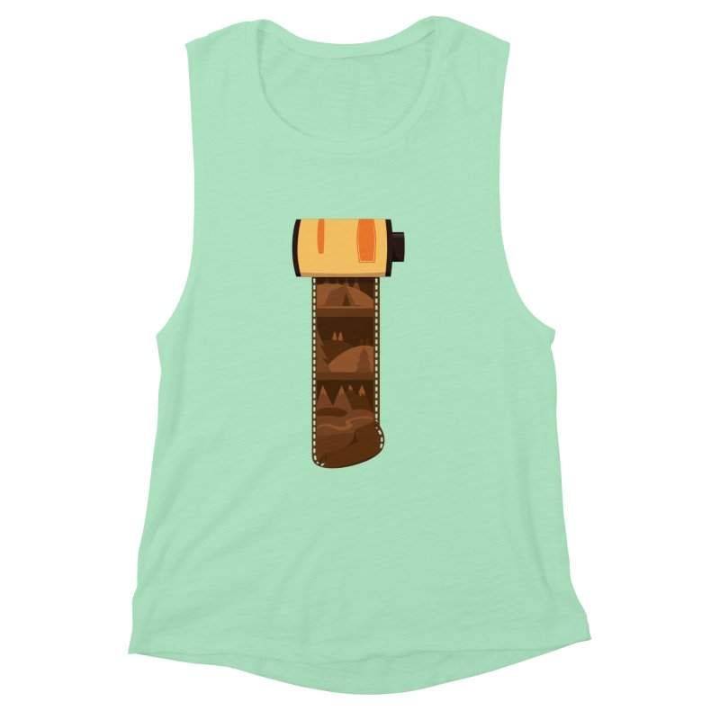 Film Roll Women's Muscle Tank by Svaeth's Artist Shop