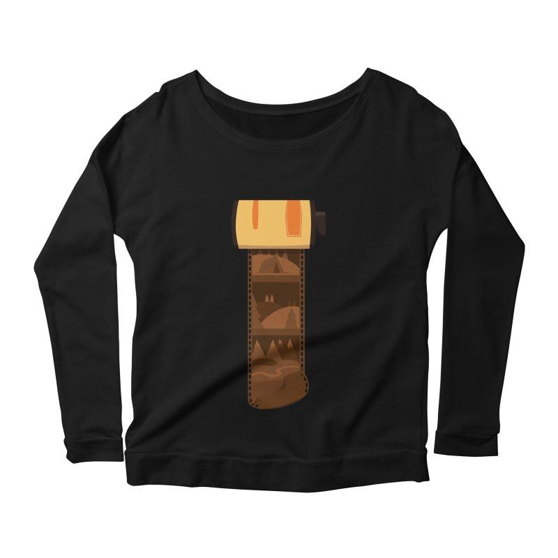 Film Roll Women's Scoop Neck Longsleeve T-Shirt by Svaeth's Artist Shop