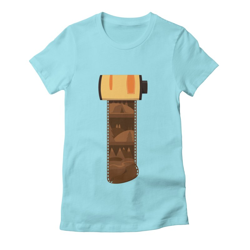 Film Roll Women's Fitted T-Shirt by Svaeth's Artist Shop
