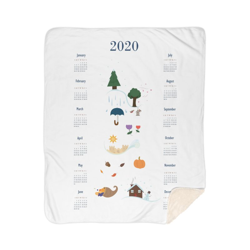 Seasons through the Year - 2020 Calendar Home Sherpa Blanket Blanket by Svaeth's Artist Shop