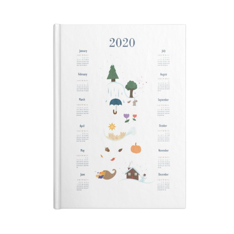 Seasons through the Year - 2020 Calendar Accessories Lined Journal Notebook by Svaeth's Artist Shop