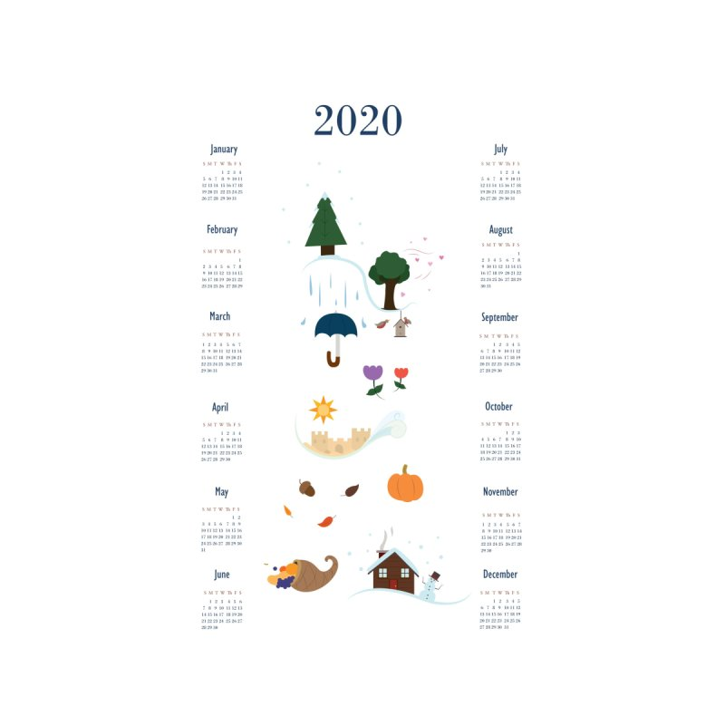 Seasons through the Year - 2020 Calendar by Svaeth's Artist Shop