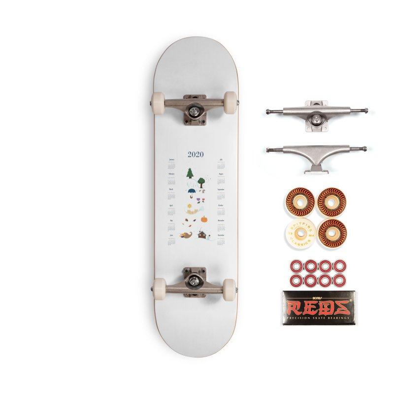 Seasons through the Year - 2020 Calendar Accessories Skateboard by Svaeth's Artist Shop