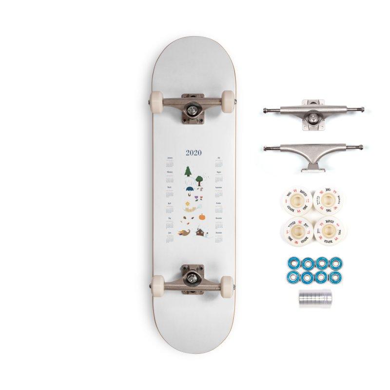 Seasons through the Year - 2020 Calendar Accessories Complete - Premium Skateboard by Svaeth's Artist Shop